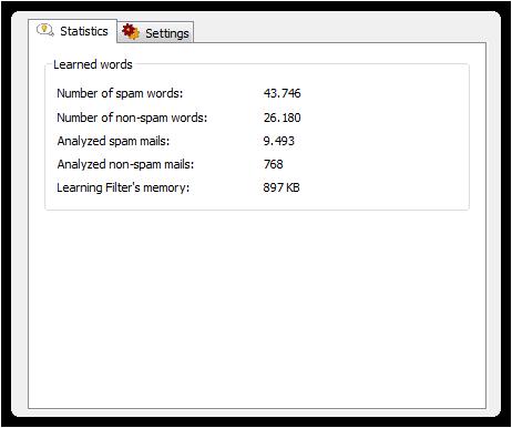 Learning Filter settings