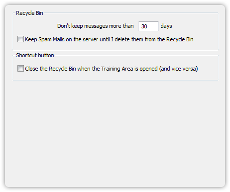 Recycle Bin settings